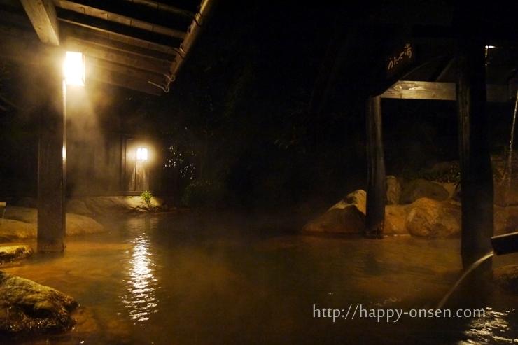 黒川温泉旅館山河露天風呂もやいの湯