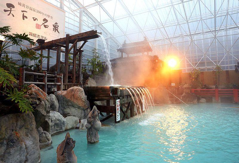 霧島温泉霧島ホテル硫黄谷庭園大浴場